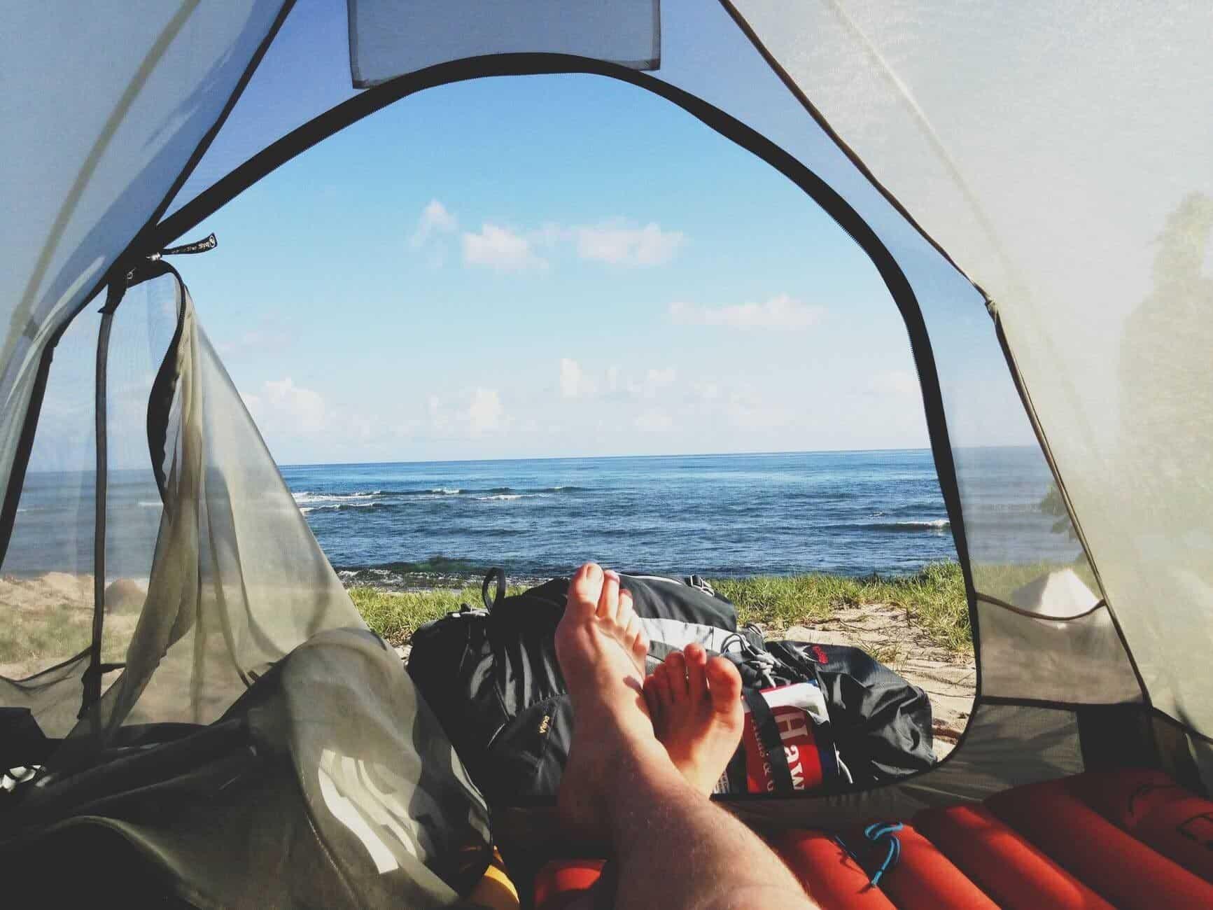 nocleg pod namiotem może być wygodny