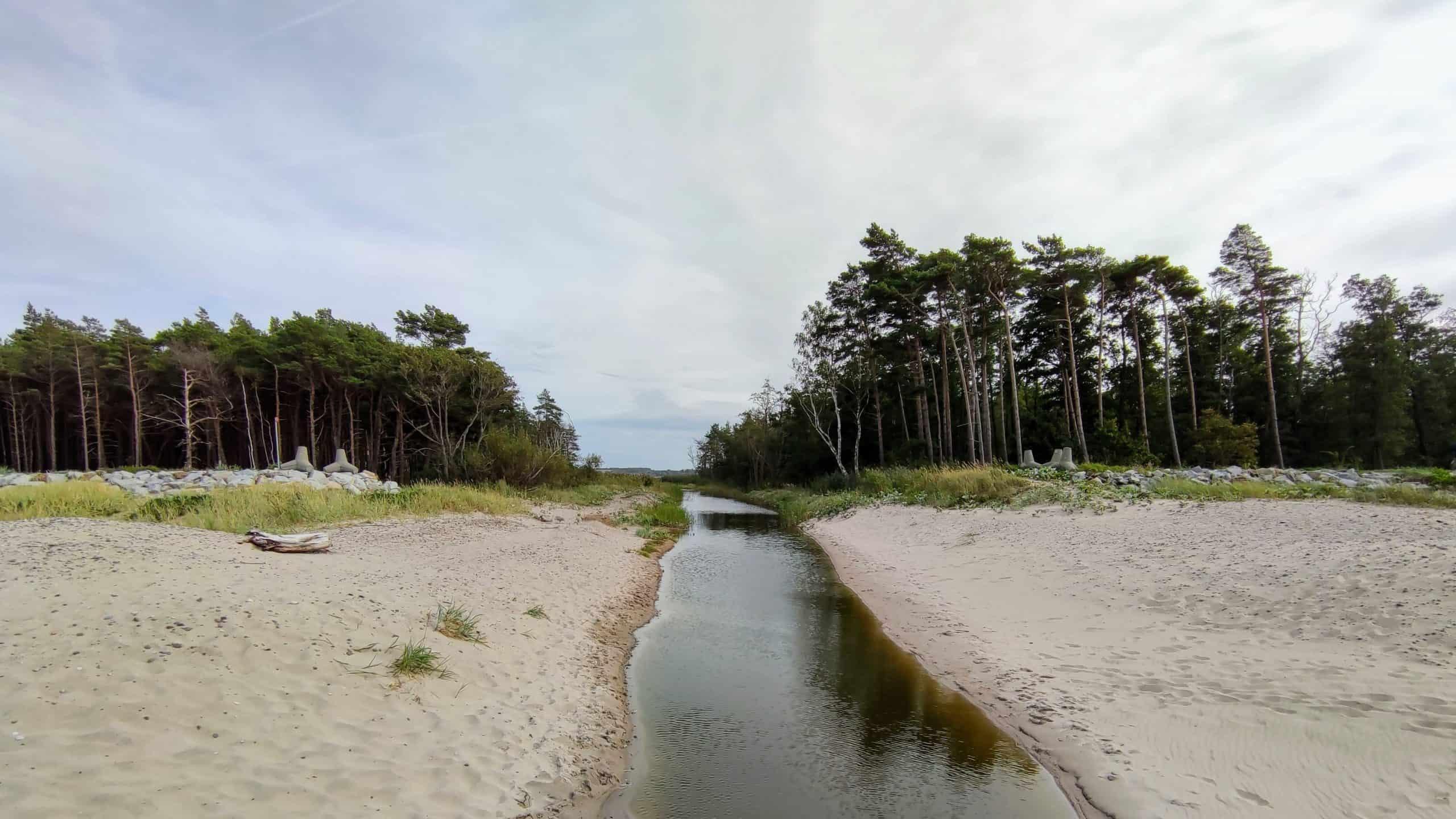 Rzeka wpływająca do Morza Bałtyckiego