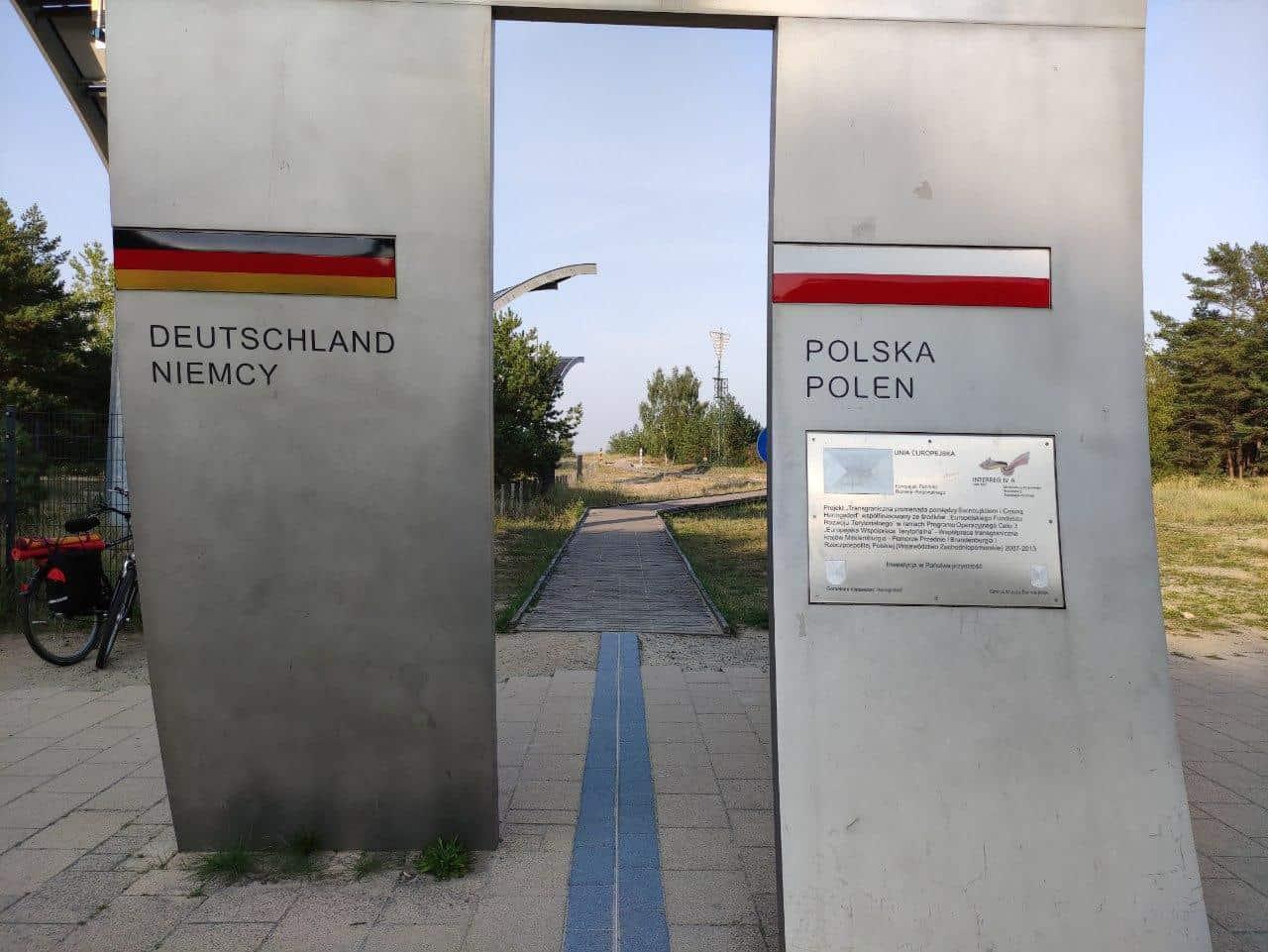 Polsko-niemiecka granica w Świnoujściu